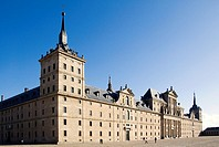 Main front of the Monastery of San Lorenzo del Escorial, Madrid, Spain