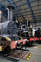tren en el museo del ferrocarril en York, Reino Unido