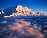 Denali Mount Mckinley above Clouds Denali National Park Preserve Alaska