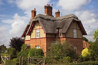Pretty Thatched Cottages of Somerleyton Suffolk
