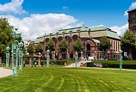 Rose garden, Rosengarten Congress Center, convention and conference center, inner city of Mannheim, Baden_Wuerttemberg, Germany, Europe