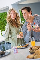 Couple at the breakfast table