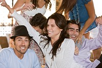 Group of friends enjoying at a party