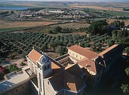 Aerial photograph of the Trappists Monastery of Latrun in the Jerusalem mountains