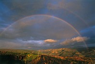 Photograph of a rainbow in the southern Golan Heights
