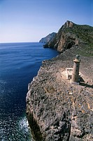 Aerial photograph of a lighthouse on the Greek island of Kythira