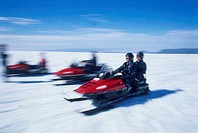 Photograph snowbikes in Iceland