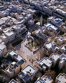 Aerial photograph of the Jewish quarter in the old city of Jerusalem