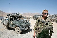 Dutch military in Coyoti, Uruzgan  The Dutch ISAF forces, together with the Australian forces control Tarin kowt town and Derahwod town in Uruzgan pro...
