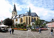 The parish church of St. Lawrence on the marketplace of Ahrweiler, Rhineland_Palatinate, Germany, Europe
