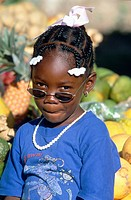 young girl, wearing sun glasses.