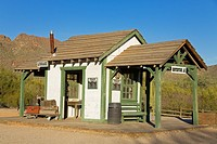Train Depot,Old Tucson Studios,Tucson, Arizona,USA