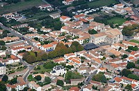 Aerial view. Saint Georges village. Island of Oleron. Charente Maritime. France.