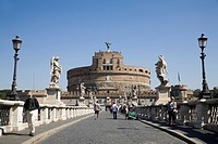 Ponte and Castel Sant'Angelo, Mausoleum of Hadrian, Rome, Lazio, Italy, Europe