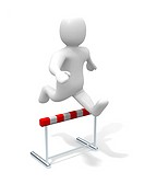Man jumping over the hurdle