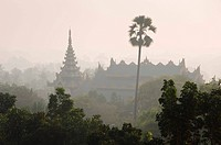 View from the Shwedagon Pagoda, Buddhist temple, Rangoon, Yangon, Burma, Burma, Myanmar, Asia