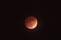 red coloured moon passing through the Earth´s shadow, Germany, Baden_Wuerttemberg