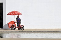 Ice_cream seller for the Kibon brand, Brazil, South America