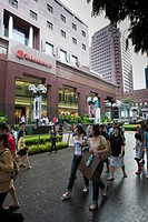 Tourists and locals shopping, Orchard Road, Singapore, Southeast Asia