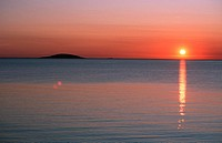 sunset over East Sea, Sweden, Oeland