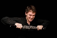 Young musician with clarinet