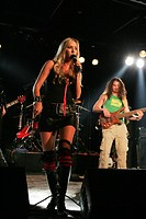 U.S. surfstar, musician and model Daize Shayne, live with her band in Schueuer, Lucerne, Switzerland