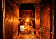 Inside the main tower of Po Klong Garai, Girai, Cham towers, sanctuary, temple, Phan Rang, Vietnam, Asia