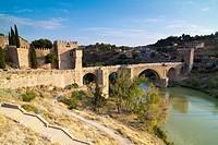 San Martin Bridge on the River Tajo. Toledo. Castilla la Mancha. Spain.
