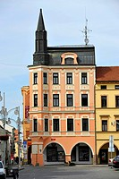 Historic Old Town, renaissance house with arcades, Ceske Budejovice or Bohemian Budweis, Budvar, Bohemia, Czech Republic, Europe