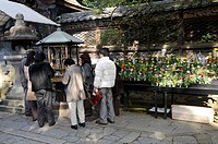 Lighting of Incense, Hanamatsuri, flower festival, Buddha's birthday celebration, the temple festival on 8 April in the Higashi Otani Mausoleum, Kyoto...