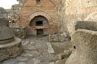 Former bakery in Pompeji, Italy, Europe