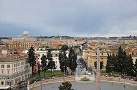 View over Rome from the Pincio, old town, Rome, Italy, Europe