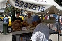 Bagel Stall Vasilissis Amalias Avenue Athens Greece