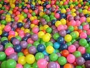 Swimming pool balls, São Paulo, Brazil