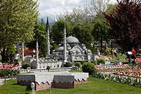 Replica of the Suleiman Mosque in Istanbul, Minimundus, Klagenfurt, Carinthia, Austria, Europe