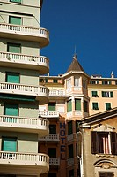 Buildings, balconies and architecture, Genoa, Italy