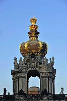 Zwinger Palace, Zwingermoat, Crown Gate roof hood, Dresden, Free State of Saxony, Germany, Europe