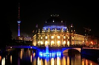 Bode Museum and television tower at Festival of Lights, Germany, Berlin