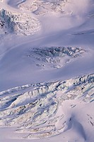 Crevasses, Taschachferner glacier, Oetztal Alps, North Tyrol, Austria, Europe