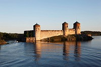 Finland, Region of Southern Savonia, Saimaa Lake District, Savonlinna, Kyronsalmi Straits, Olavinlinna Medieval Castle, St. Olaf´s Castle
