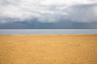 Beach with brooding sky