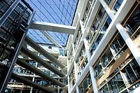 Interior, lobby, atrium, headquarters of the pharmaceutical company Boehringer Ingelheim GmbH, Ingelheim, Rhineland-Palatinate, Germany, Europe