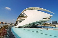 Palau de les Arts Reina Sofia, opera house, music theater, Ciudad de las Artes y Ciencias, city of arts and sciences, Valencia, Spain, Europe