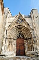 Portal, Arciprestal Iglesia de Santa Maria la Mayor, church, basilica, Morella, Castellon, Valencia, Spain, Europe