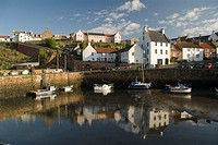 Crail harbor, Fife, Scotland, UK