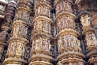 The Mahadewa Temple in Khajuraho City, Madhya Pradesh, India, Asia