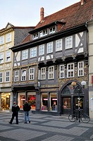 Schroeder house, 1549, Renaissance half_timbered house built by the cloth manufacturer Hovet, Goettingen, Lower Saxony, Germany, Europe
