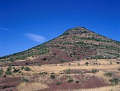 hill out of igneous rocks, France, Languedoc_Roussillon