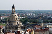 Cuppola of the Frauenkirche Church of Our Lady, Dresden, Saxony, Germany