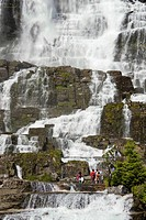 Tvindefossen Waterfall near Voss city, Norway, Europe